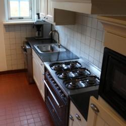 Die Küche im niederländischen Freizeitheim Nieuwe Brug.
