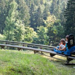 Sommerrodelbahn Harzbob zu erreichen vom Kinderfreizeitheim Forsthaus Eggerode im Harz in Deutschland