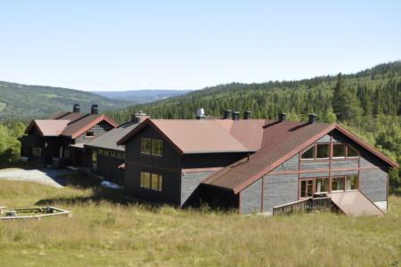 Das Gruppenhaus Hallingdal von Außen in Norwegen