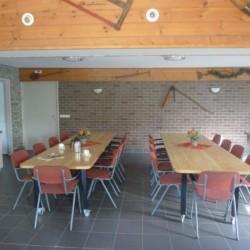 Der Speisesaal im Gruppenhaus Kievitsnest in den Niederlanden.